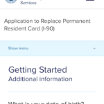 Mobile Form I-90 Getting Started