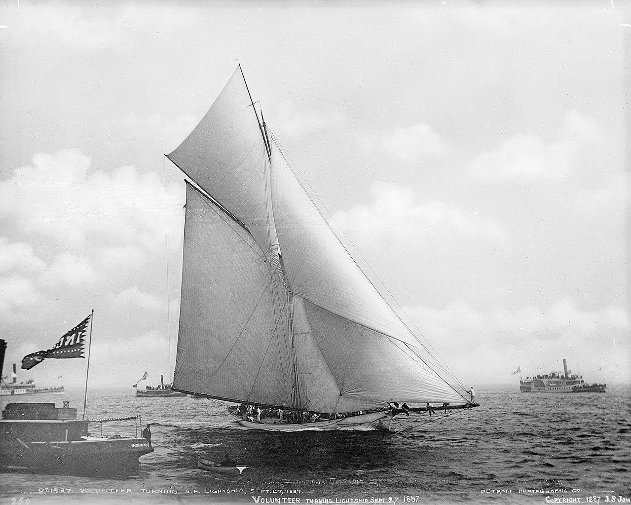 Canvas sail on a sailboat