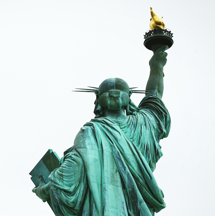 Statue of Liberty Back Square