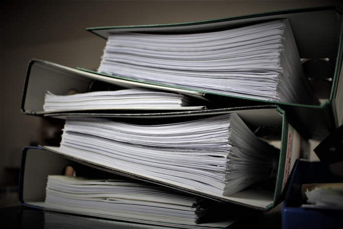 Stack of immigration forms