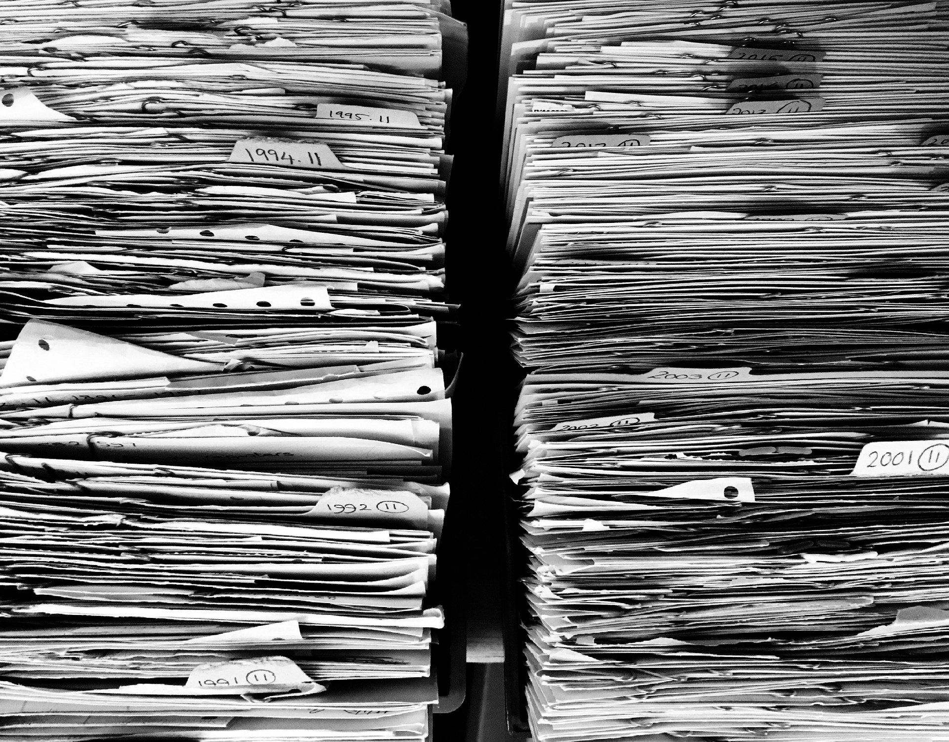 Stacks of Immigration Forms