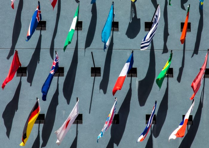 National Flags on Wall