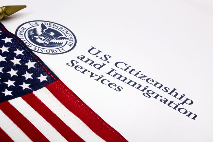 U.S. Department of Homeland Security - Citizenship and Immigration Services - USCIS Letterhead