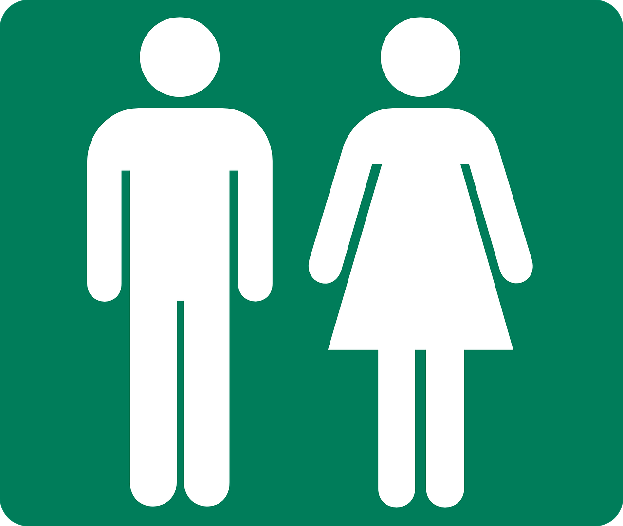 A pictogram of male and female.