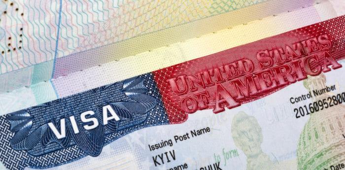 A U.S. non-immigrant visa.