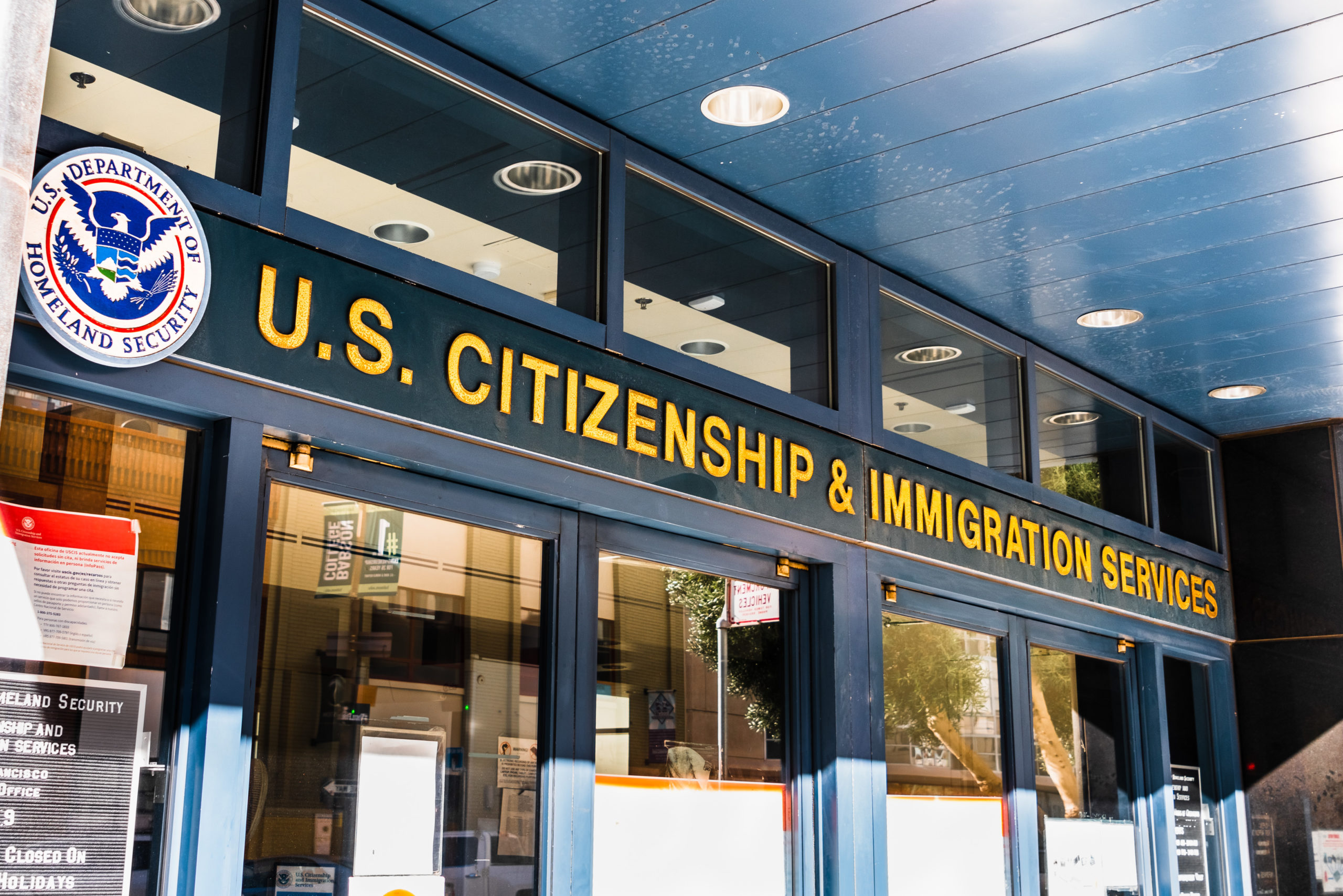 USCIS field office shuts down due to coronavirus.