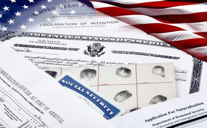 USCIS processing a naturalization application