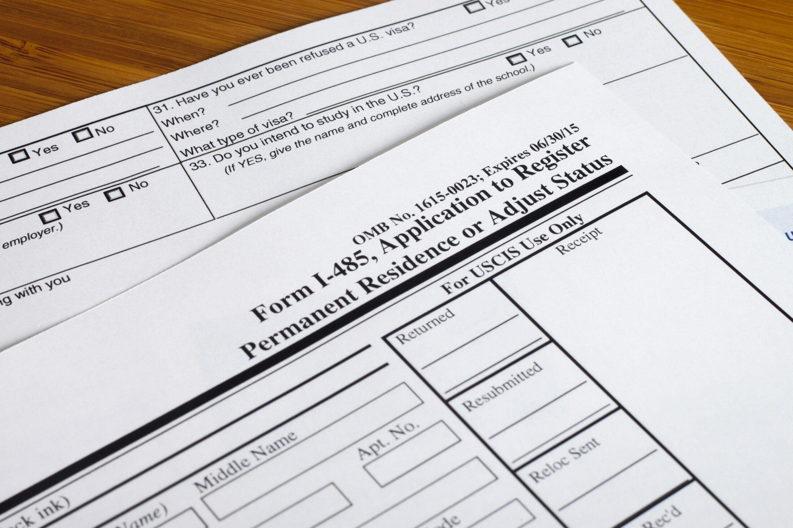 Blank Form I-485 Adjust Status