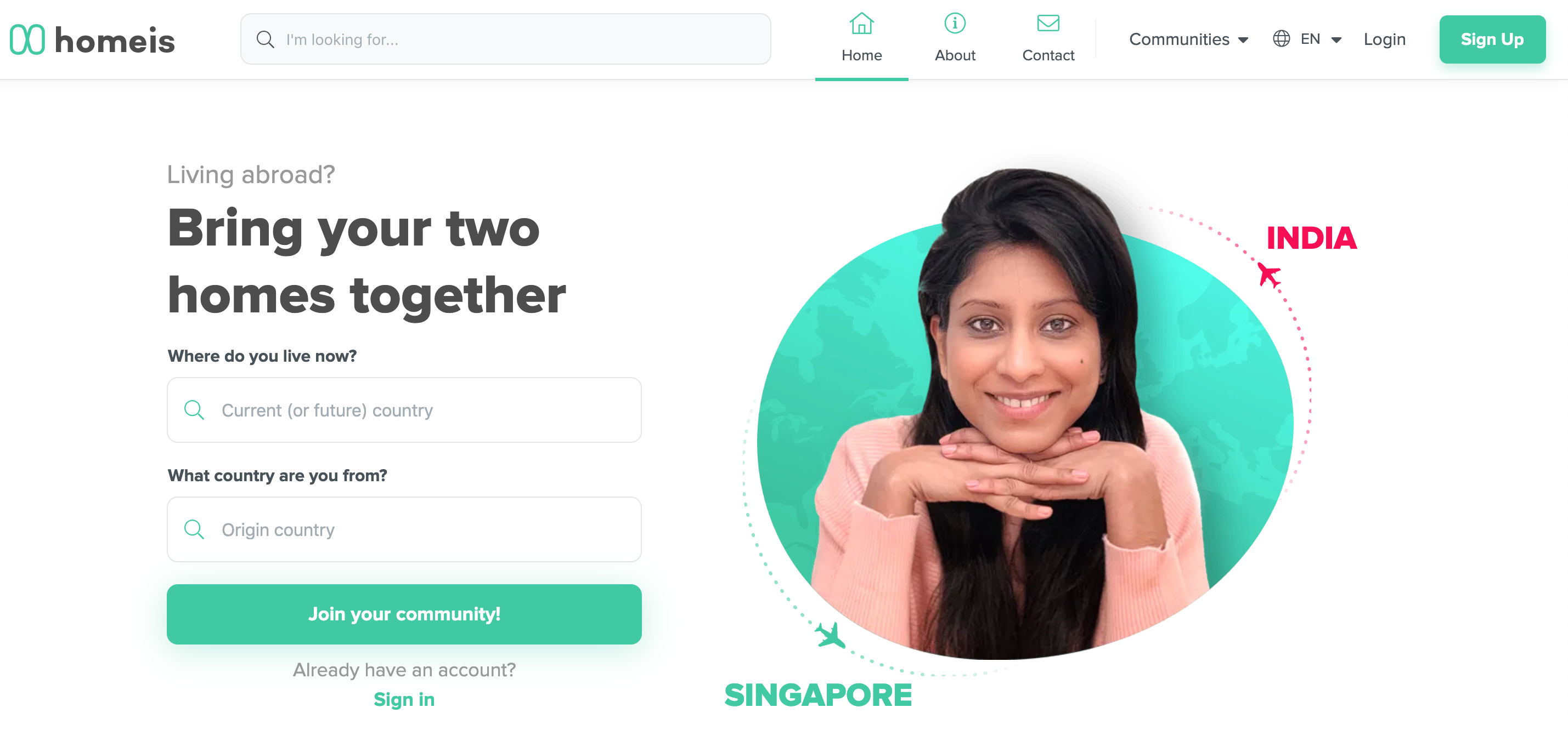 Homeis app for new immigrants