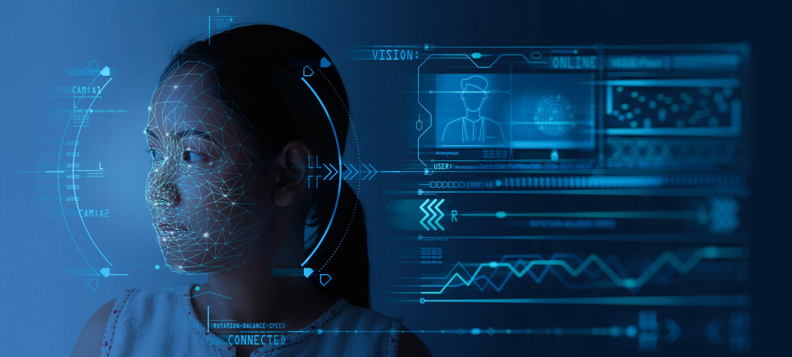An immigrant submits biometrics data