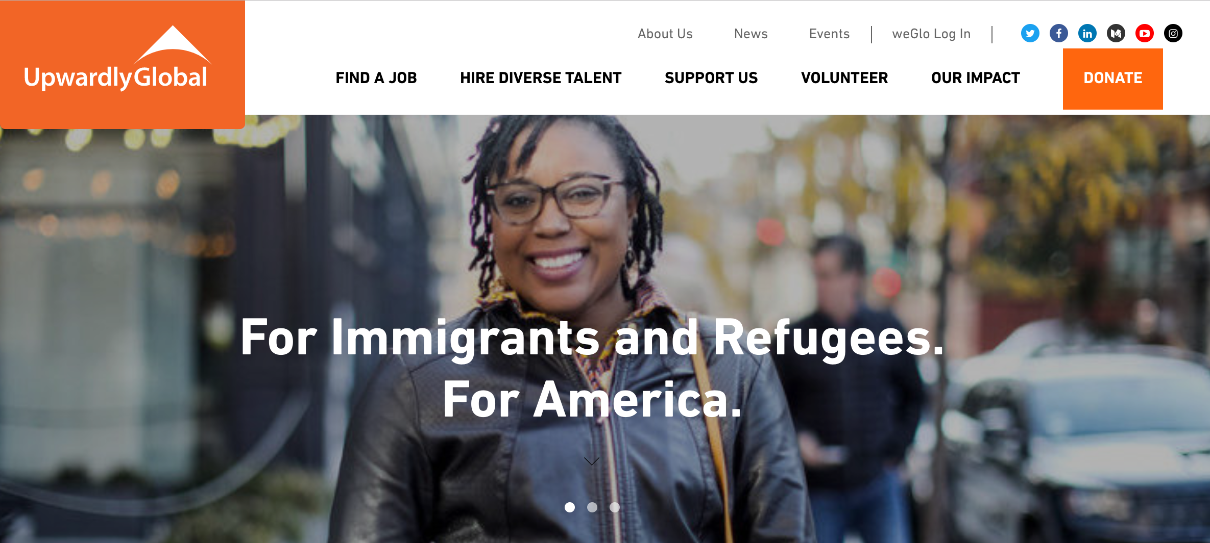 Upwardly Global, A website that helps immigrants find work