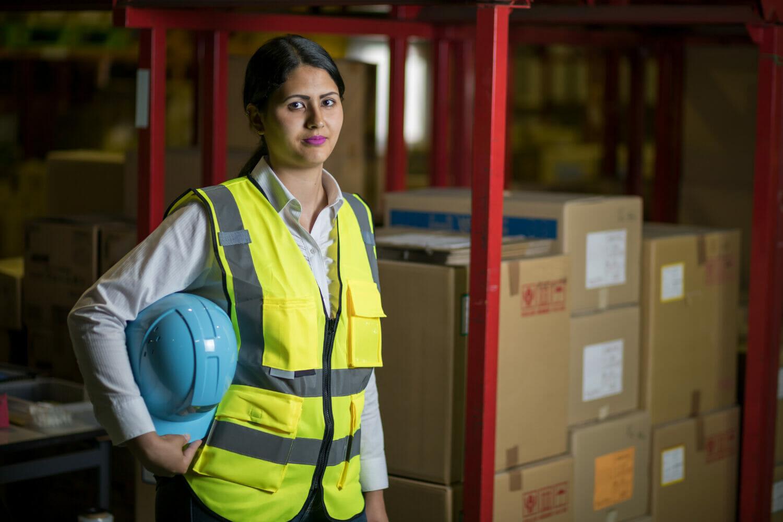 Female immigrant worker.