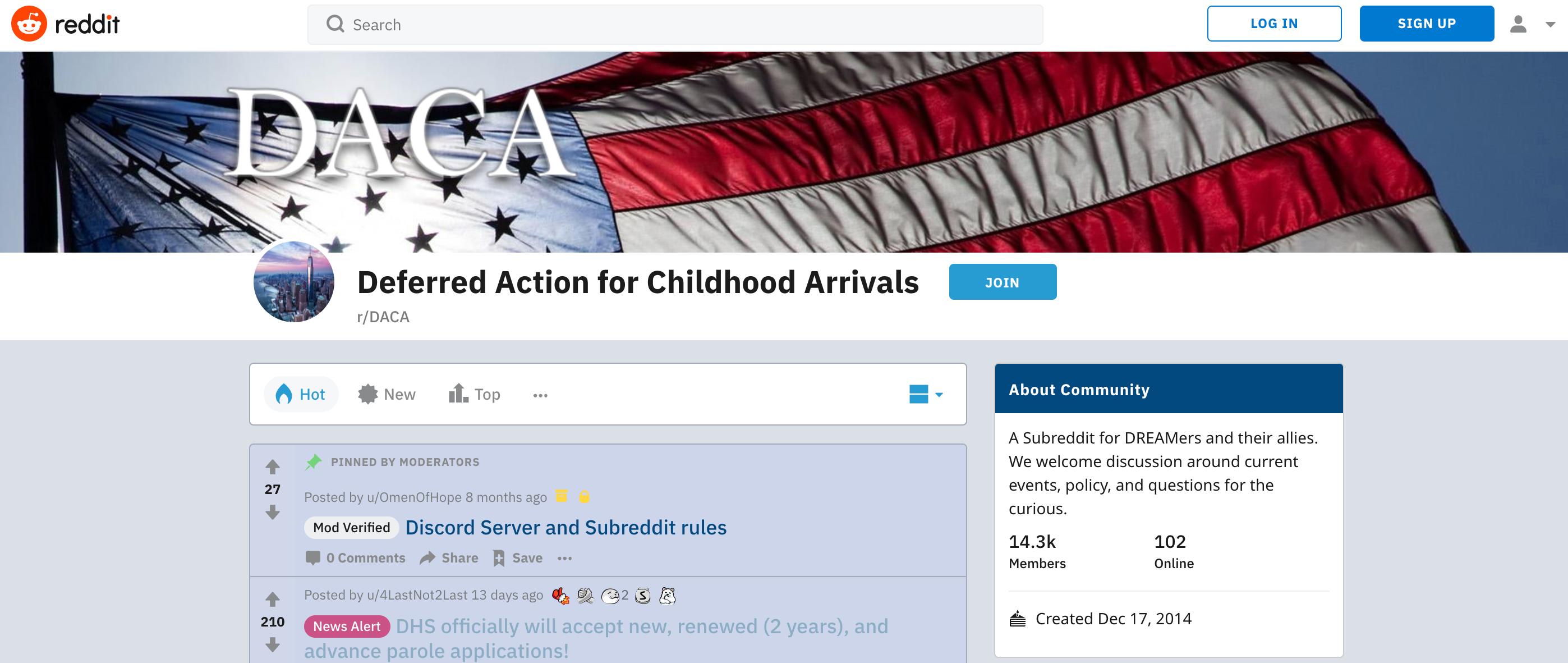 DACA subreddit