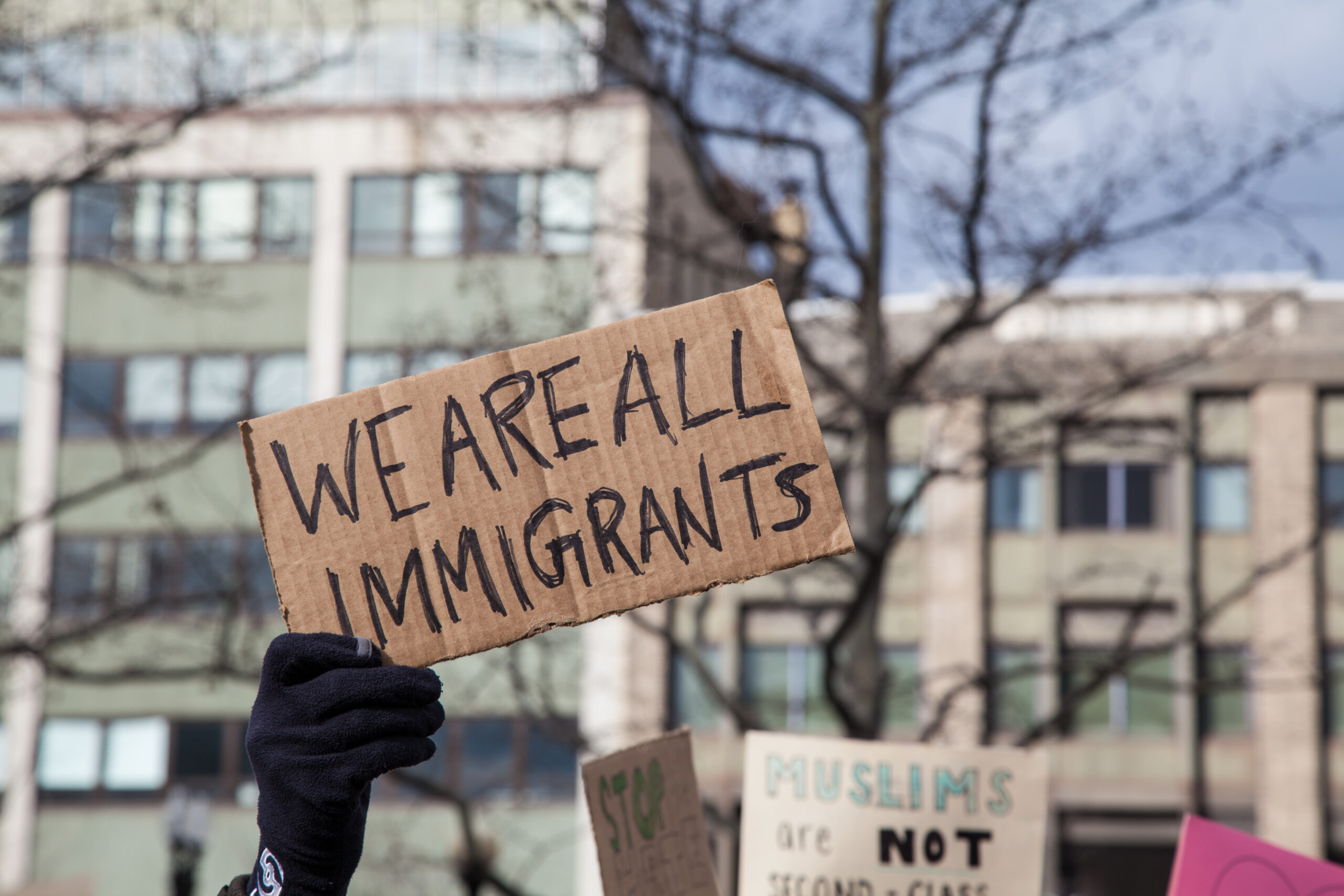 We Are All Immigrants Sign
