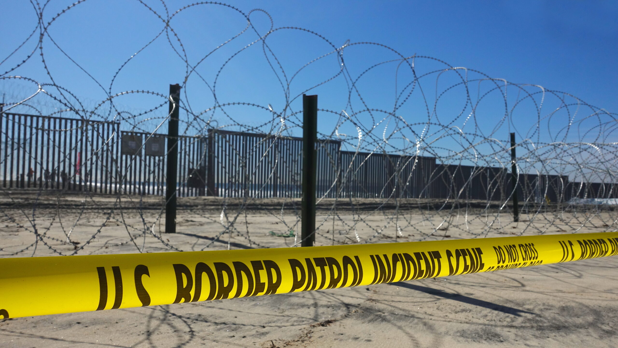 A fence along the US-Mexico border