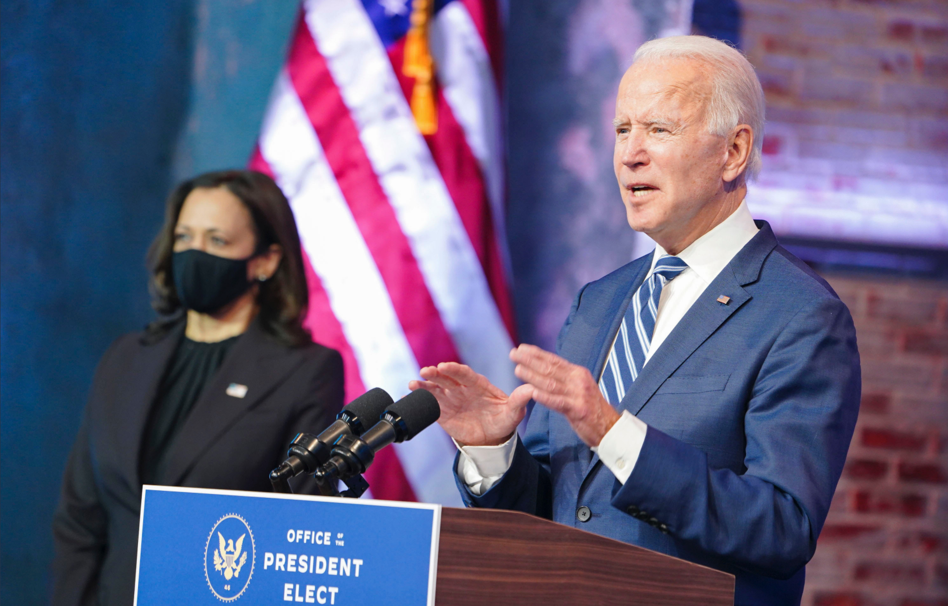 Biden and Harris Speak About Immigration in 2021