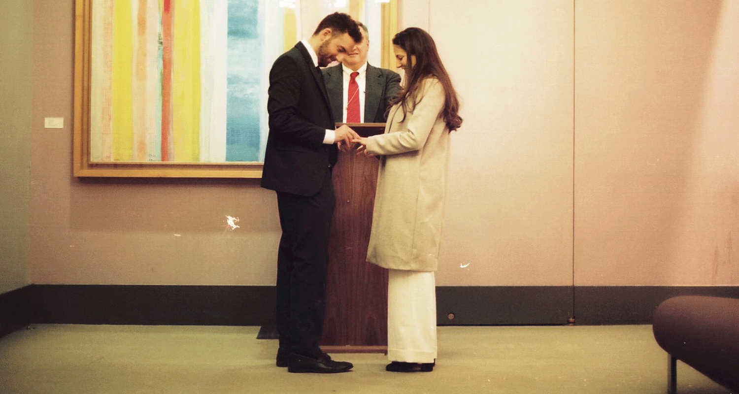 Mina and Mike getting married