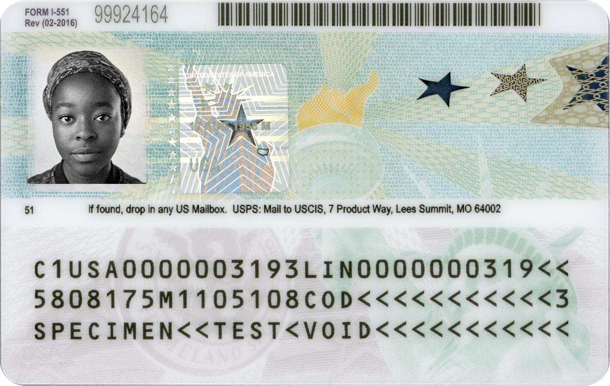 sample green card