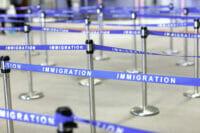 A U.S. immigration line