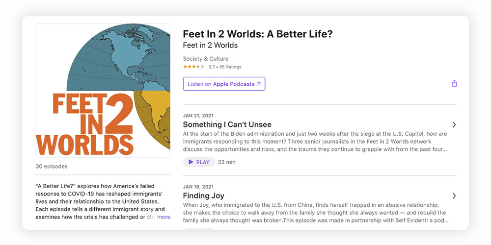 A Better Life? immigrant podcast