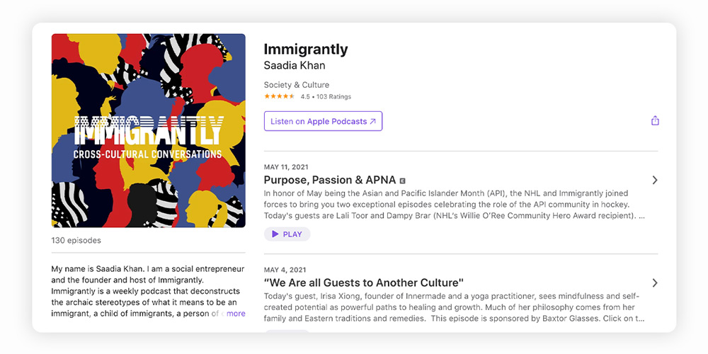 Immigrantly podcast
