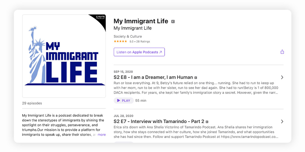 My Immigrant Life podcast