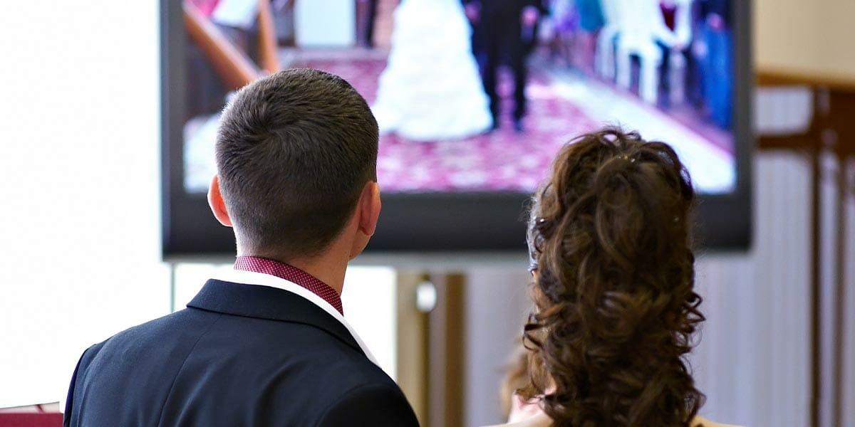 A couple at a proxy wedding