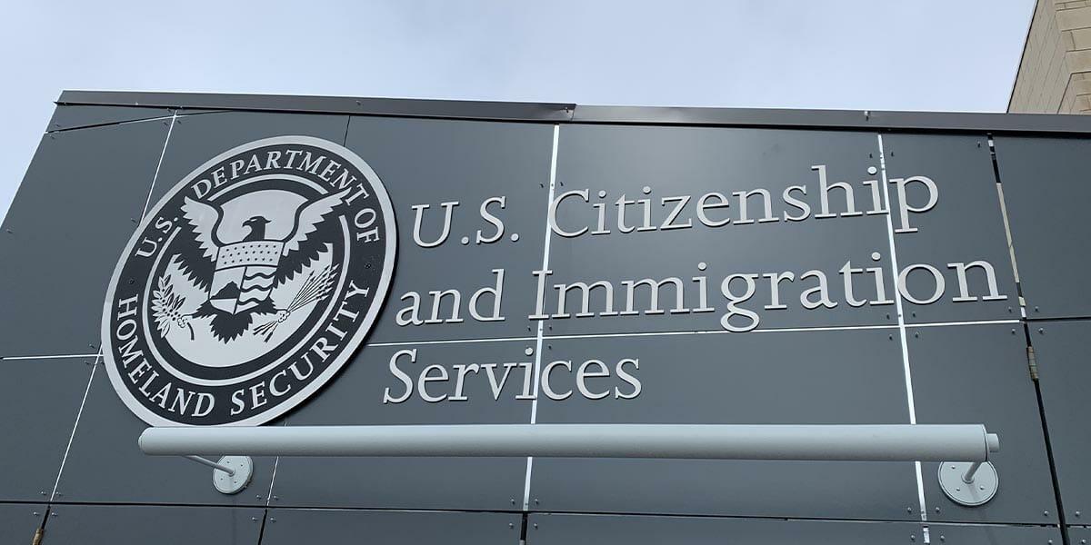 USCIS Building Sign