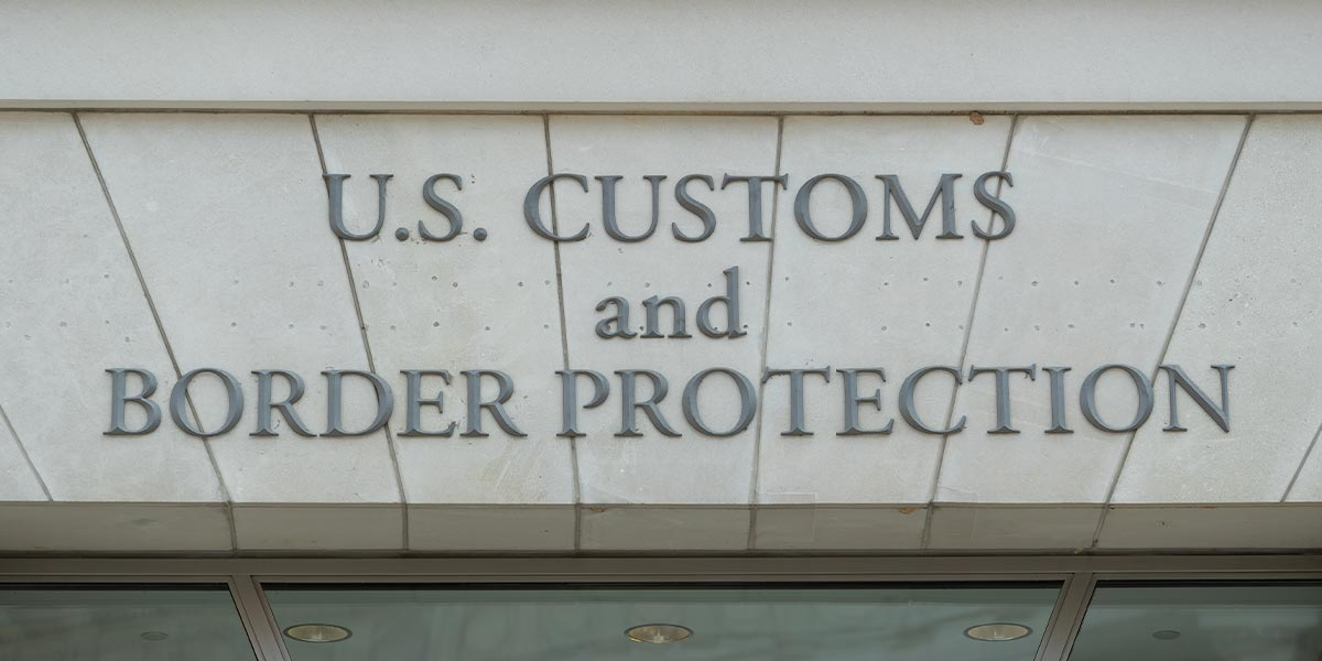 US Customs and Border Protection Sign