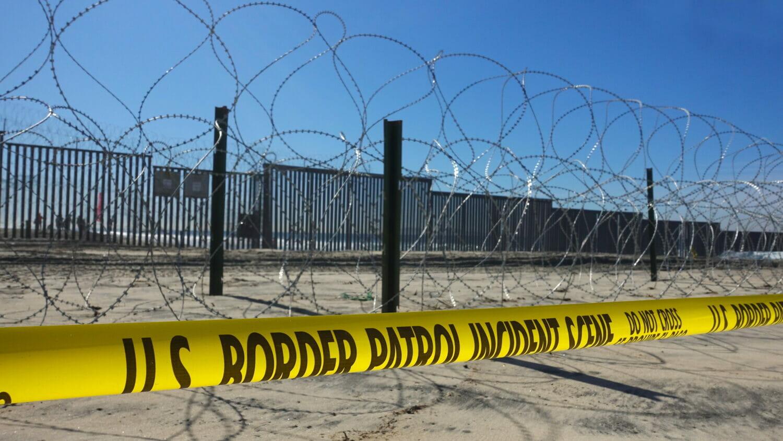 The U.S. Mexico border fence