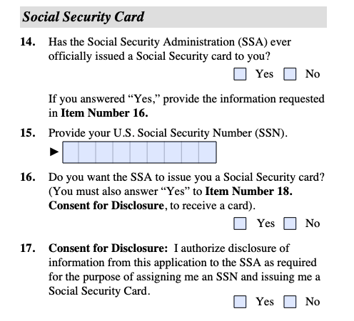 New SSN question on Form I-485