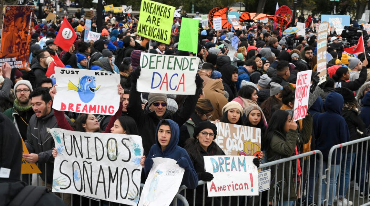 Protesters for DACA